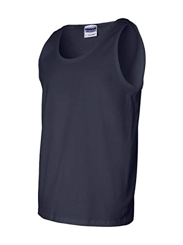 Adult Cotton Tank Top (Navy) (X-Large)
