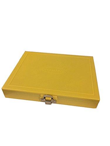 - 100 Capacity Slide Storage Box, Yellow. 97-0129