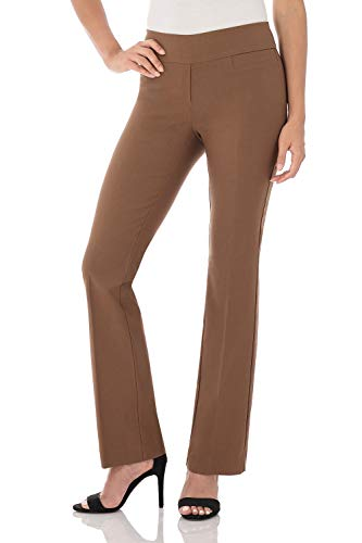 Rekucci Women's Ease in to Comfort Boot Cut Pant (16SHORT,Chestnut)