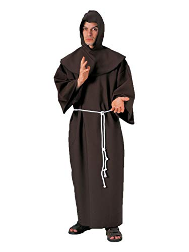(Forum Deluxe Hooded Monk Costume Robe, Brown, One)