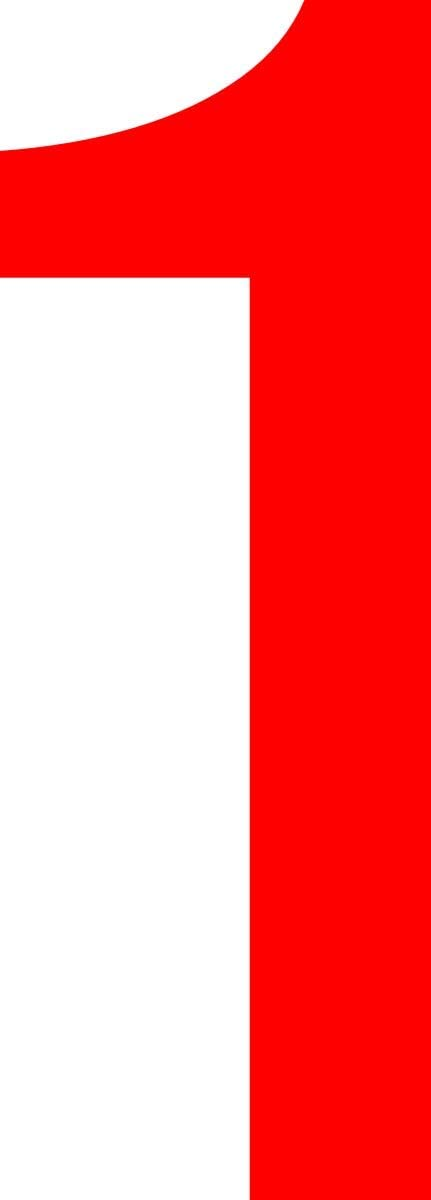 von 2-20cm H/öhe Boote Ziffer 1-20cm Haust/ür rot Basteln Nummern ShirtInStyle Zahlen selbsklebende Aufkleber Kennzeichen M/ülltone