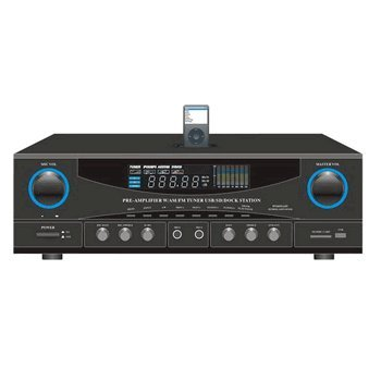 PYLE HOME PT4601AIU 500-Watt Stereo Receiver with iPod(R) Dock electronic consumer