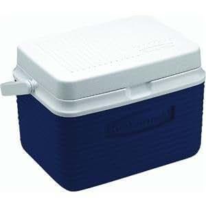 Rubbermaid Personal en el pecho 5-quart Ice Cooler, azul, diseño de jardín, césped, Mantenimiento