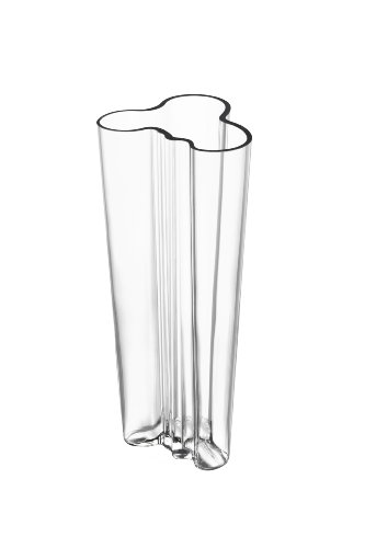 Aalto Clear Vase (Iittala Alvar Aalto 10-Inch Finlandia Vase, Clear)