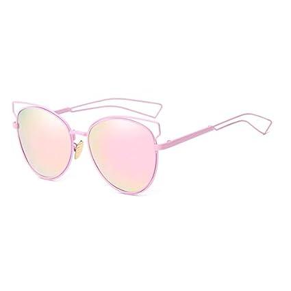 Merriz - Gafas de Sol para Gato, diseño de Metal Hueco, Marco Grande,