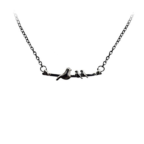 Himpokejg Mom Birds Branch Pendant Chain Necklace Jewelry Daughter Mother Gift 2 Little Birds ()