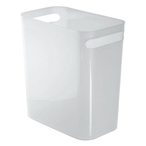 InterDesign Una Wastebasket Trash Frost