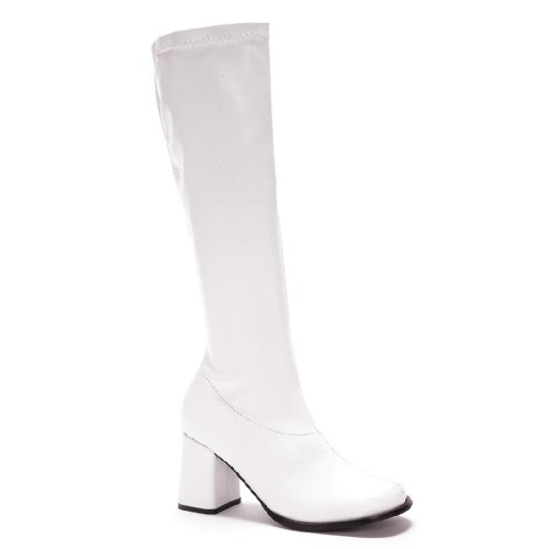 Ellie Shoes White Go-Go Adult Boots (Women's Adult 10) ()