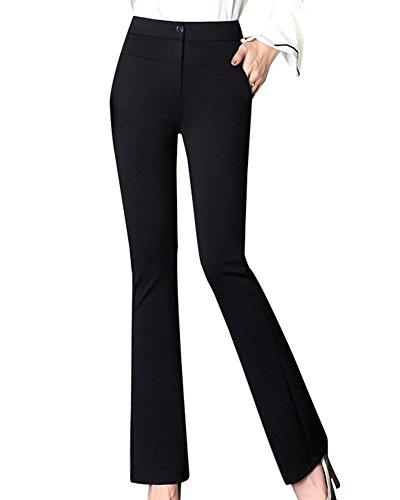 Pantalone Campana Alta Sottile Tasche Vita Con A Nero Donna arF5aq