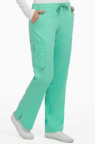 Med Couture Women's 'Activate' Hi-Definition Cargo Scrub Pant, Sea Crystal, X-Small Petite