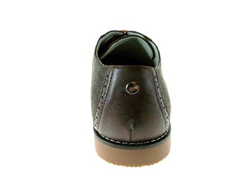 Dress Shoes up Toe C1407 Mens Oxford Round Lace Brown Texture wX0q8qE