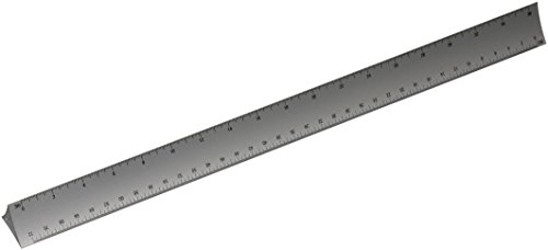 Alumicolor 3000 Series 12-Inch Silver Hollow Aluminum Triangular Engineer Scale (3230-1) (Scale Triangle)