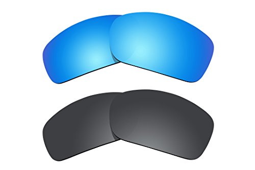 2 Pairs Polarized Lenses Replacement for Oakley Scalpel Sunglasses Ice Blue & ()