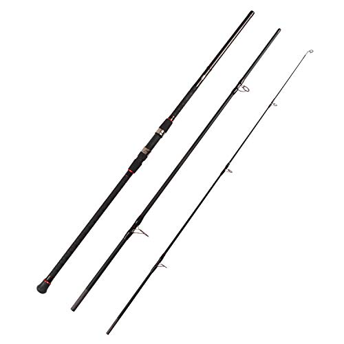 Fiblink Surf Spinning Fishing Rod 3-Piece Graphite Travel Rod Portable Spin Rod (9-Feet & 11-Feet & 13-Feet) (Length: 13')