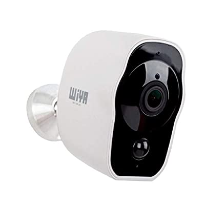 Wireless Rechargeable Battery Powered Camera, WiYA 2.4G WiFi Wire-Free Security Camera HD for Outdoor/Indoor, Home Surveillance Camera with Waterproof?2-Way Audio?Night Vision?PIR Motion Sensor