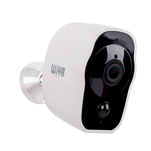 Wireless Rechargeable Battery Powered Camera, WiYA 2.4G WiFi Wire-Free Security Camera HD for Outdoor/Indoor, Home Surveillance Camera with Waterproof丨2-Way Audio丨Night Vision丨PIR Motion Sensor