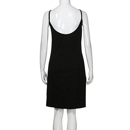 Senza Sexy Stretto Caramella Vestito della Vestito Senza Abito Maniche vestito donne strappy Colore Nero all'uncinetto NINGSUN Fionda Schienale Cocktail da Hip Backless q05wF5g