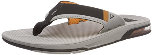 Orange Fanning Thong Low Reef Sandal Men's Grey aOxWUnFT