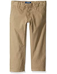 Boys' Classic Fit Twill Pant with Adjustable Waist