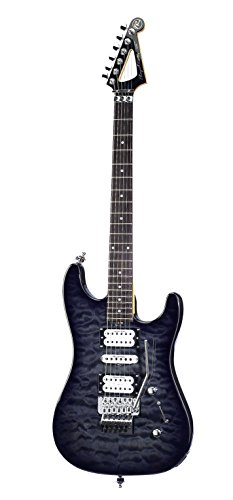 Floyd Rose ISOT3TBLK International 3 Series Electric Guitar, Trans Black