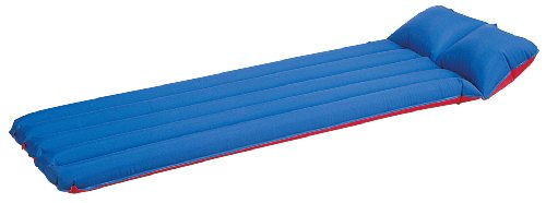 Stansport Air Mattress, Red/Blue (76- X 29-Inch), Outdoor Stuffs