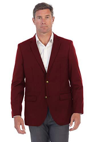 Gioberti Mens Formal Burgundy Blazer Jacket, Size 36 Short