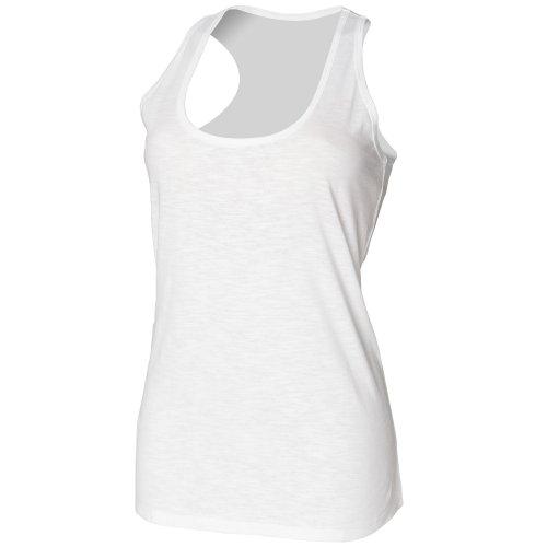 Skinni Fit- Camiseta de tirantes Slub para chica/mujer Negro