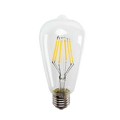 RTS 6 W E26/E27 Bombillas LED incandescente ST64 6 COB 550LM LM Blanco Cálido/luz fría decorativo V 1 pieza, cool white: Amazon.es: Iluminación