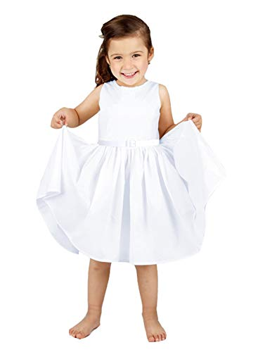 (Happy Rose Girl's Dress Vintage Party Pure White 6 )