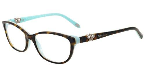 Tiffany Tf2051b Cateye Crystals Butterfly Tortoise Havana Azure Eyeglasses 51mm - Tiffany Frames Butterfly With Eyeglass