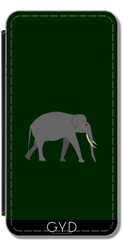 Funda Carcasa Cubierta de PU Cuero para Huawei P10 - Elefante by hera56