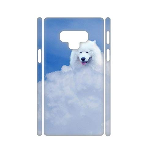 Babu Building Amusing Use for Galaxy Note 9 Have with Samoyed Dog Hard Plastic Cases for Kid ()
