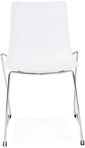 Paris Prix Chaise Design Rovigo Blanc: : Cuisine