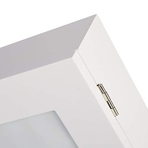 Tapa de Contadores blanco madera para entrada