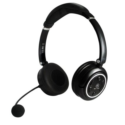 Andrea Communications WNC-1500 Stereo 2.4Ghz Wireless computer headset with noise canceling microphone, USB charging cable in Retail Packaging (Stereo Speech Recognition Cable Headset)