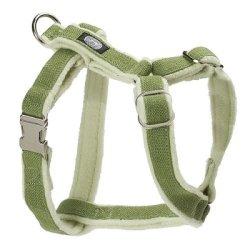 Planet Dog Cozy Hemp Adjustable Harness Apple Green Medium, My Pet Supplies