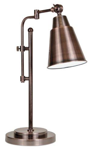 Ott Lite Metal Table Lamp (OttLite 15484RBS  15-Watt Provo Table Lamp, Rubbed)