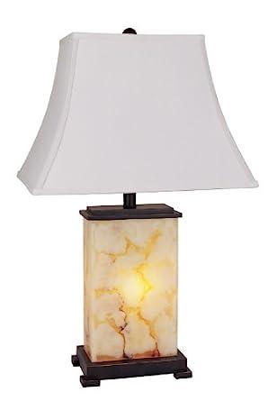 H.p.p 28u0027u0027h Alabaster Table Lamp With Night Light