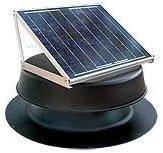 Natural Light Solar Attic Fan – 24 Watts – 2000 sq ft – Black
