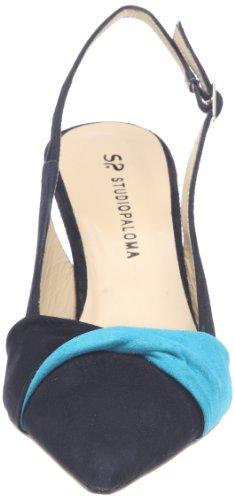 STUDIO PALOMA - Sandalias de cuero para mujer Azul
