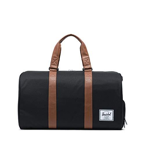 Herschel Novel Duffel Bag, Black/Tan Synthetic