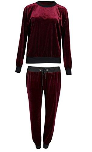 Uni Taille 36 Jogger En Longues Top Femme Col Survêtement Velours Manches 2 Sweat Plus Rond Pour nbsp;pièces Pyjama Vous Tw1qCpXxU