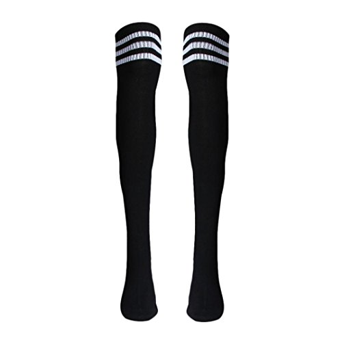 Voberry Autumn Retro Knee High Tube Thigh High Socks Over Knee Girls Football Socks (Back) (Thigh High Socks)
