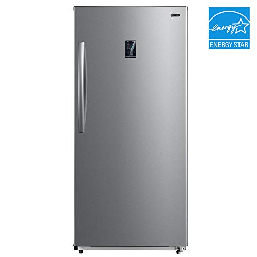 Whynter UDF-139SS 13.8 cu.ft. Energy Star Digital Upright Convertible Deep Stainless Steel Freezer/Refrigerator, One Size,