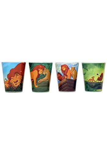 (Silver Buffalo LK031SG1 Disney Classic The Lion King Mini Glass Set, 4-Pack)