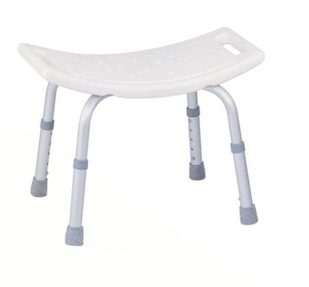 Drive Medical Deluxe Aluminum Bath Bench without Back, White
