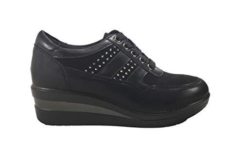 Noir MUDS à Chaussures Lacets de pour Ville Femme rqq0w1g8c