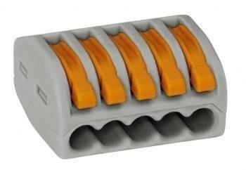 Wago 222-415 LEVER-NUTS 5 Conductor Compact Connectors 10 PK