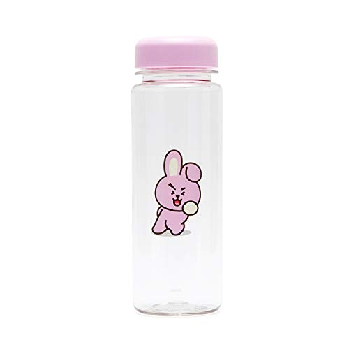 BT21 BTS Official Merchandise by Line Friends - Cooky 16-Ounce BPA-Free Tritan Drinking Tumbler with Lid, Pink