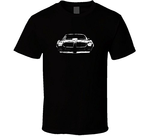 Firebird Grill (1970 1971 1972 1973 Pontiac Firebird Grill View Distressed Black T Shirt XL Black)